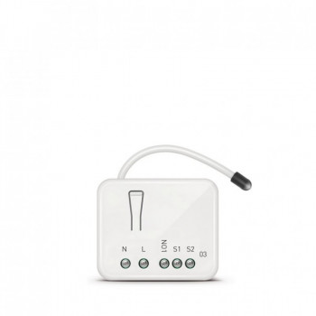 ZIPATO Micro-module Single Switch with Energy Meter 1 x 2