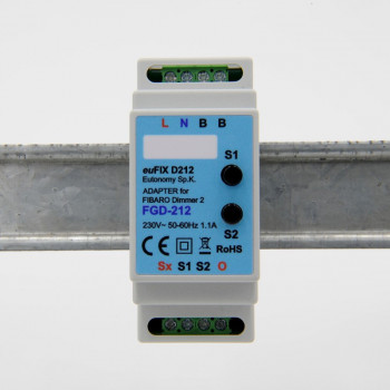 EUTONOMY Adapter DIN for Fibaro Dimmer FGD-212 with Buttons