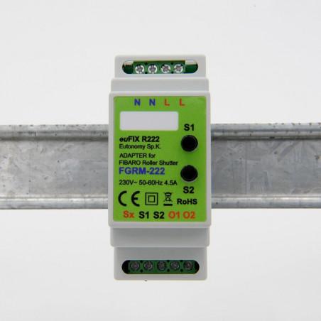 EUTONOMY - Adapter DIN for Fibaro Roller Shutter FGR-223 with buttons