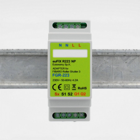 EUTONOMY - Adapter DIN for Fibaro Roller Shutter FGR-223 without buttons