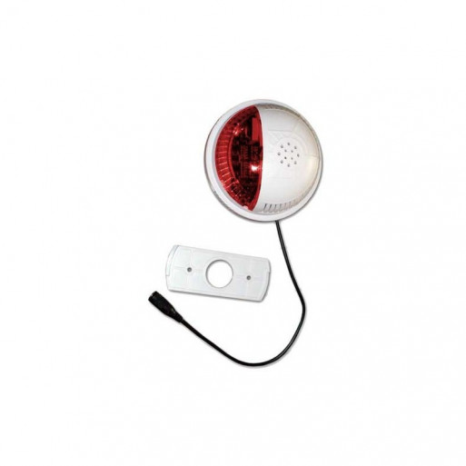 FORTREZZ Siren&Strobe Alarm with Red Lens