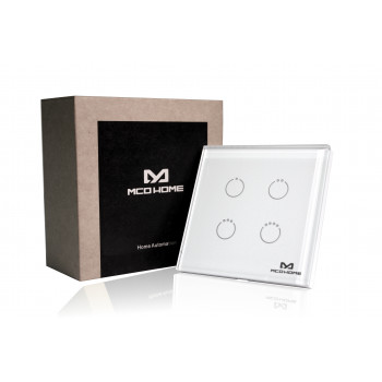 MCO Home - Glass Touch Switch GEN5 (4 Buttons), British...