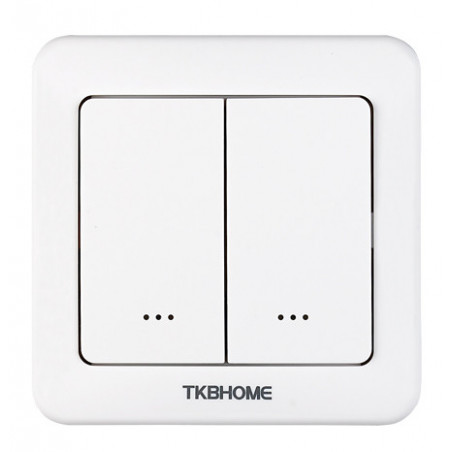 TKB Home - Wall Dimmer Switch with Double Paddle (Rounded Corners)