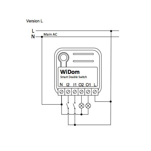 WiDom Double Switch L version