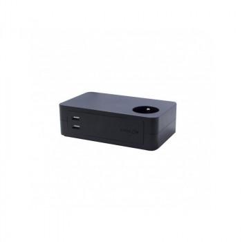 CHACON Powerstrip Block for Desktop 3 x 16A + 2 x USB at 1