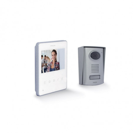 """CHACON Ultra Slim Wired Videophone (2 wires) 4.3"""" - White"""