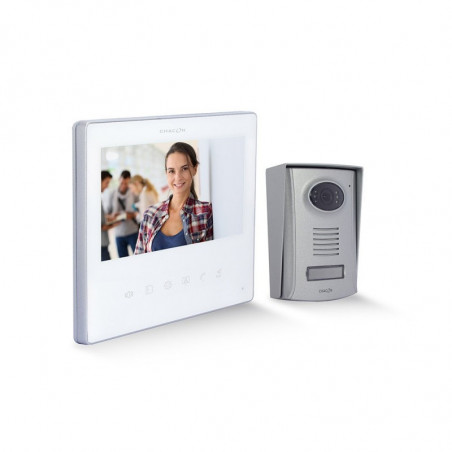 """CHACON Ultra Slim Wired Videophone (2 wires) 7"""" - White"""