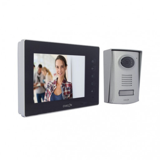 """CHACON Wired Videophone (2 wires) - Black Screen 7"""""""