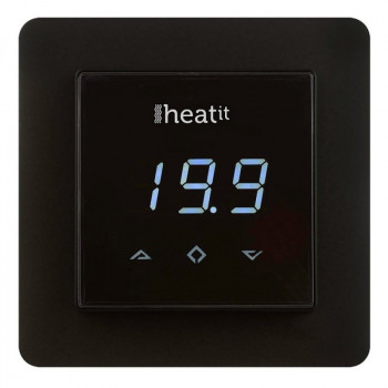 THERMOFLOOR - Thermostat Z-Wave Heatit 3600W 16A, noir