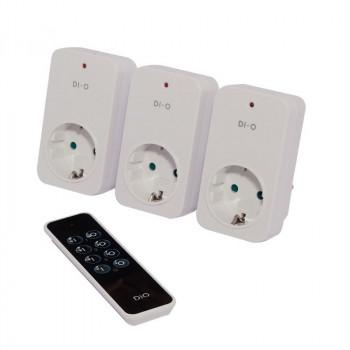 DIO 3 Channel Remote Control + 3 Plug Modules Schuko