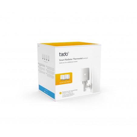 Tado - Smart Radiator Thermostat Quattro Pack - Vertical
