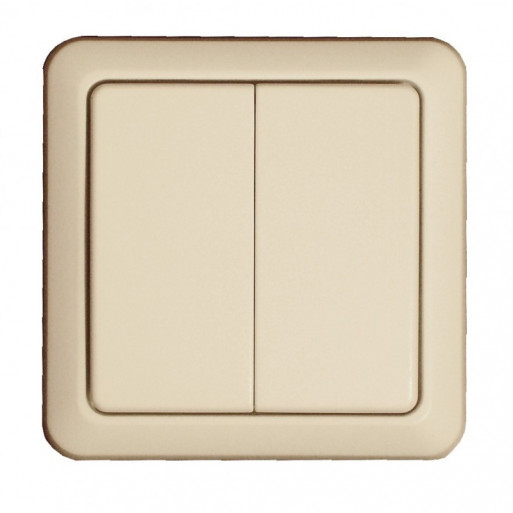 DIO Wireless Dual Wall Switch - Cream Color